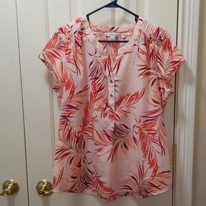 Croft & Barrow light pink blouse sz L